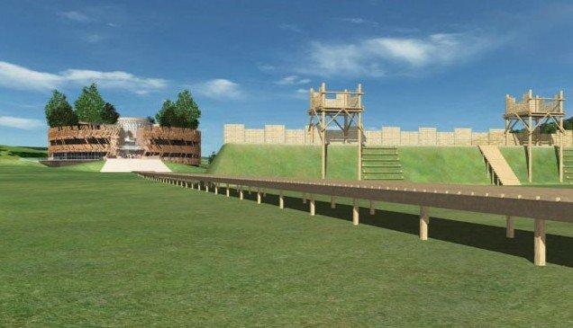 Алезия – музейный и археологический парк. Информационный центр. Визуализация © Bernard Tschumi Architects
