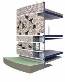 Алезия – музейный и археологический парк. Схема устройства стены музея. Визуализация © Bernard Tschumi Architects