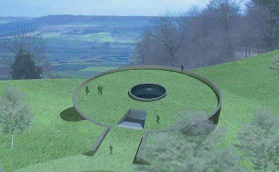 Алезия – музейный и археологический парк. Музей. Визуализация © Bernard Tschumi Architects