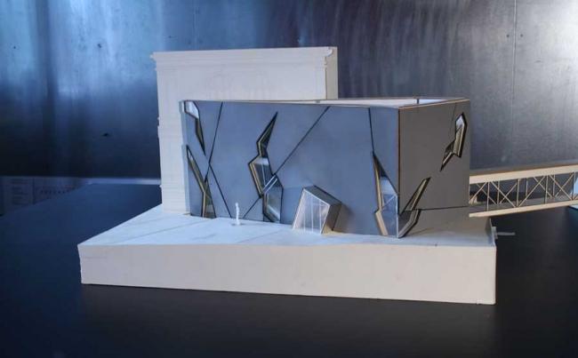 Музей Феликса Нуссбаума - новое крыло. Модель. Фото © Studio Daniel Libeskind