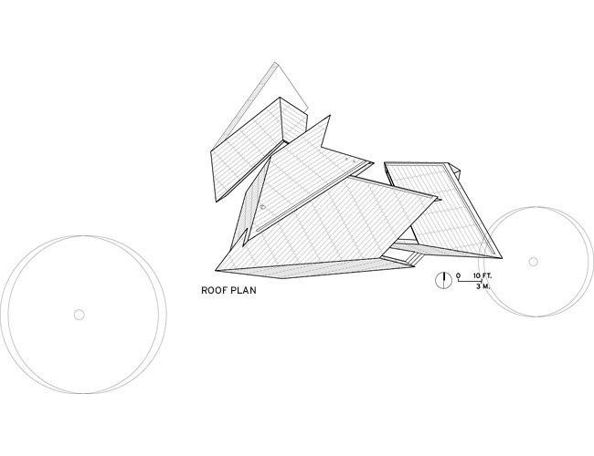 Дом 18.36.54. План по уровню крыши © Studio Daniel Libeskind