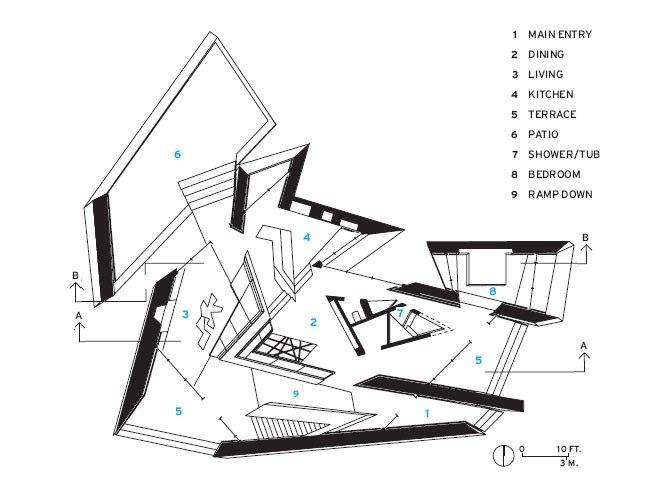 Дом 18.36.54. План © Studio Daniel Libeskind
