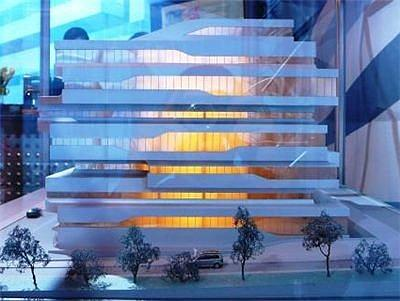 Бизнес-центр «Доминион» на Шарикоподшипниковской. Макет. Фото: dp.ru
