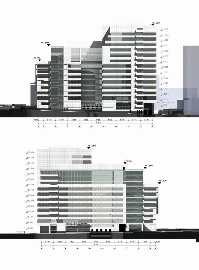 боковые фасады