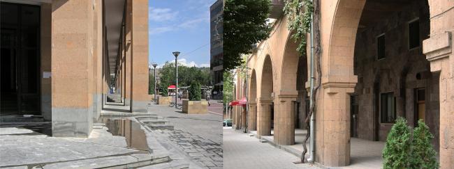 Ереванские галереи: Северный проспект и ул. Таманяна. Фото автора, 2011