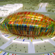 Concept of sports and infrastructure facilities of FIFA World Football Cup in 2018 in Volgograd, Volgograd