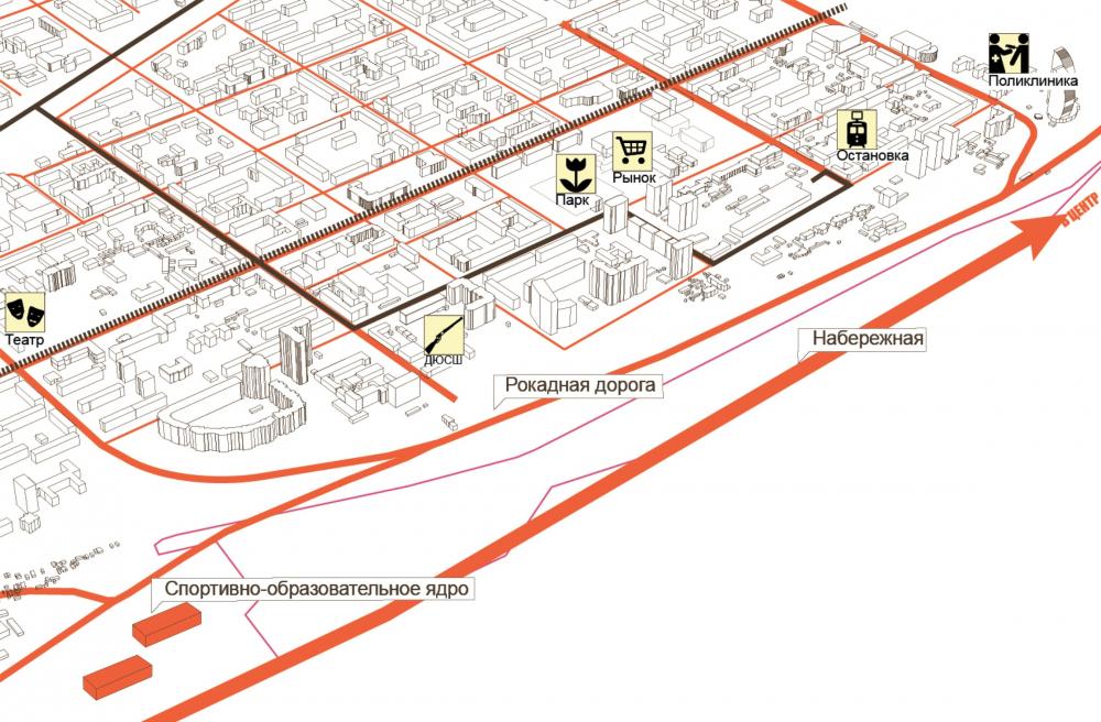 Существующее положение и перспективное развитие территории<br>© ATRIUM