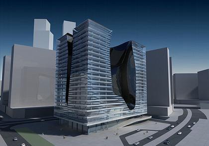 Опус - офисный комплекс © Zaha Hadid Architects