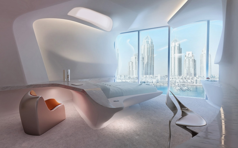 Комплекс Opus. Интерьер отеля ME Dubai © Zaha Hadid Architects © Zaha Hadid Architects