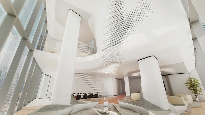 Комплекс Opus. Интерьер отеля ME Dubai © Zaha Hadid Architects<br>© Zaha Hadid Architects