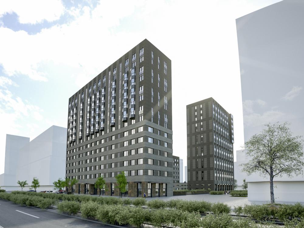 ZILART housing complex (Lot #4). Project<br>Copyright: © Mezonproekt