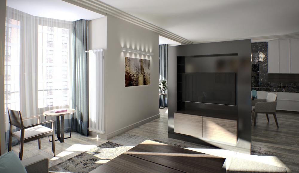 ZILART housing complex (Lot #4). Apartment interior<br>Copyright: © Mezonproekt