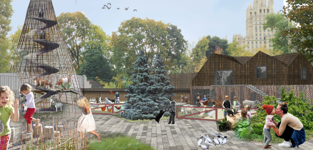 Project of reorganizing the Minor Territory of the Moscow Zoo © Wowhaus, 2015-2016<br>Copyright: © WOWHAUS
