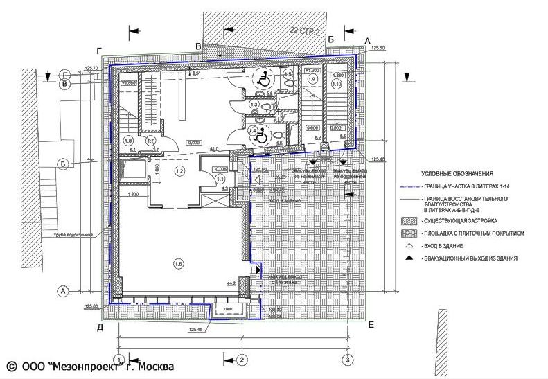 The studio of Zurab Tsereteli. Plan of the -1st floor. Project, 2014<br>Copyright: © Mezonproekt