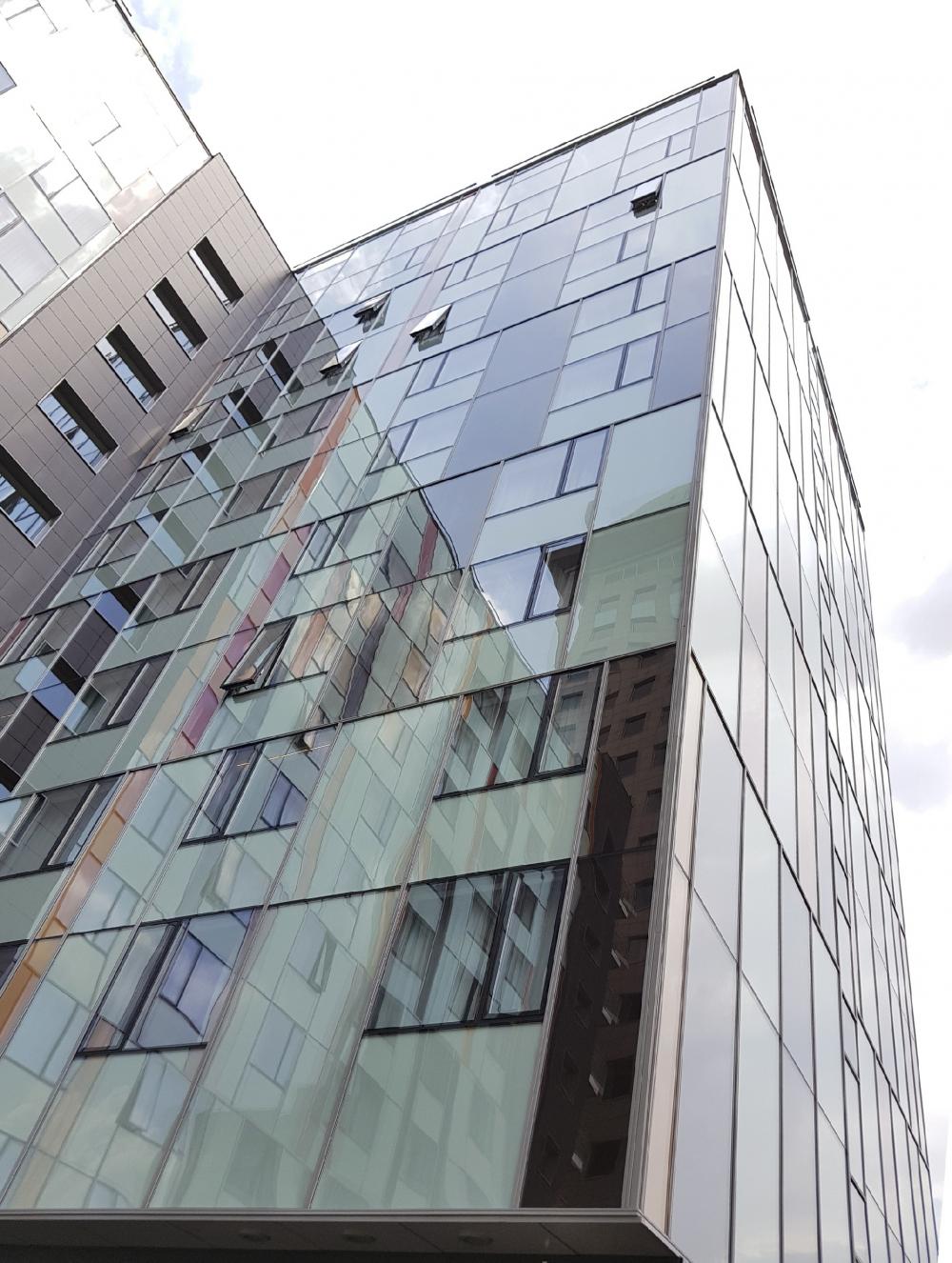 Holiday Inn Express Hotel on the Dubininskaya Street, Moscow<br>Copyright: Photograph © Ginzburg Architects