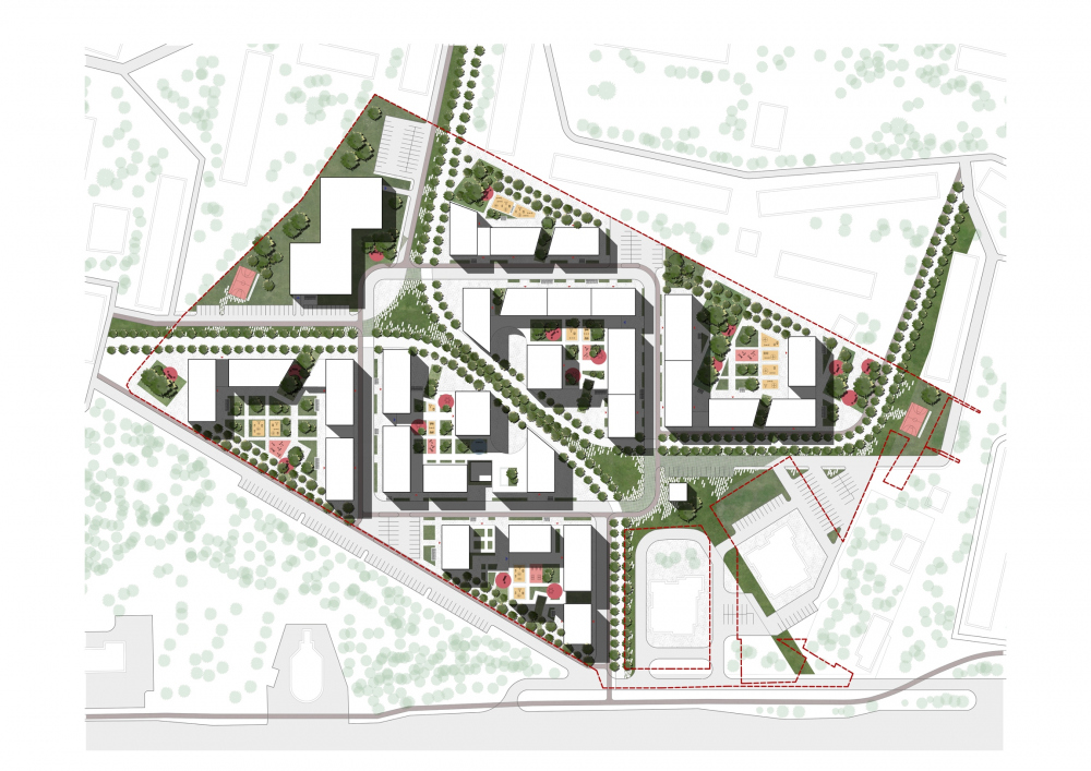 """Pokrovsky"" housing complex in Izhevsk. Master plan. Project copyright © MAYAK architects"