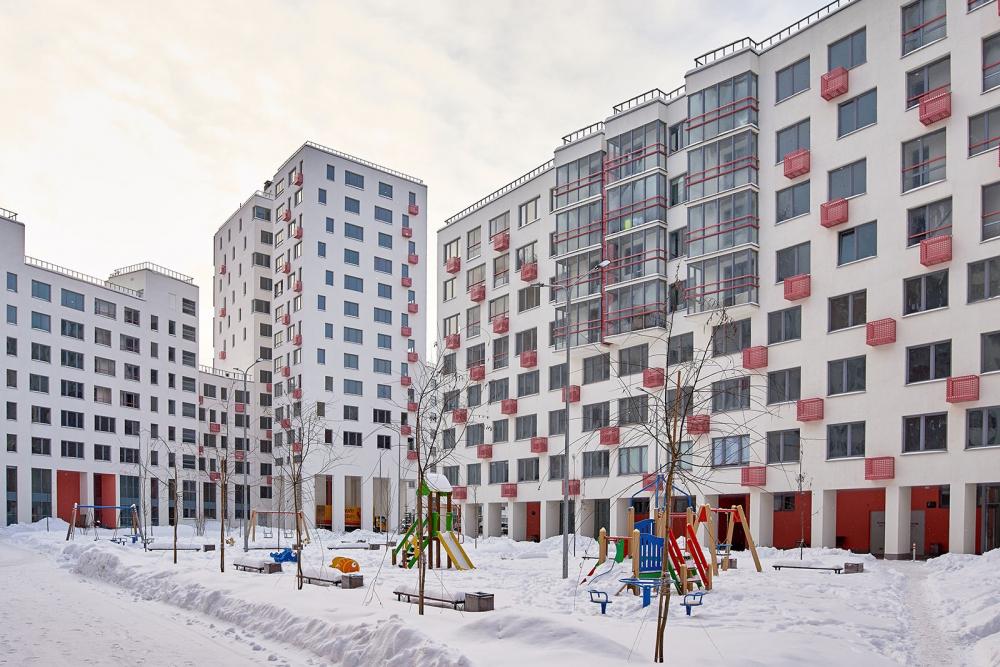 Novokraskovo housing complex. A facade fragment<br>Copyright: © Ostozhenka Bureau