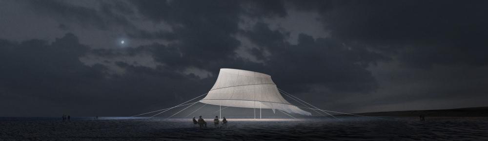 Конкурсный проект пляжного кинотеатра в Героскипу<br>© KATARSIS Architects