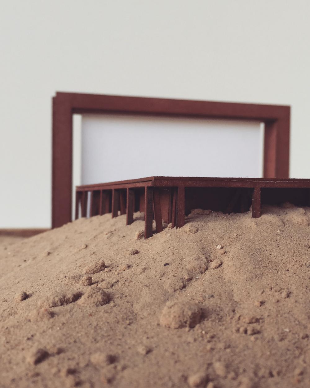 Конкурсный проект пляжного кинотеатра в Героскипу<br>© Matthew Dueck & Enzo Nercolini