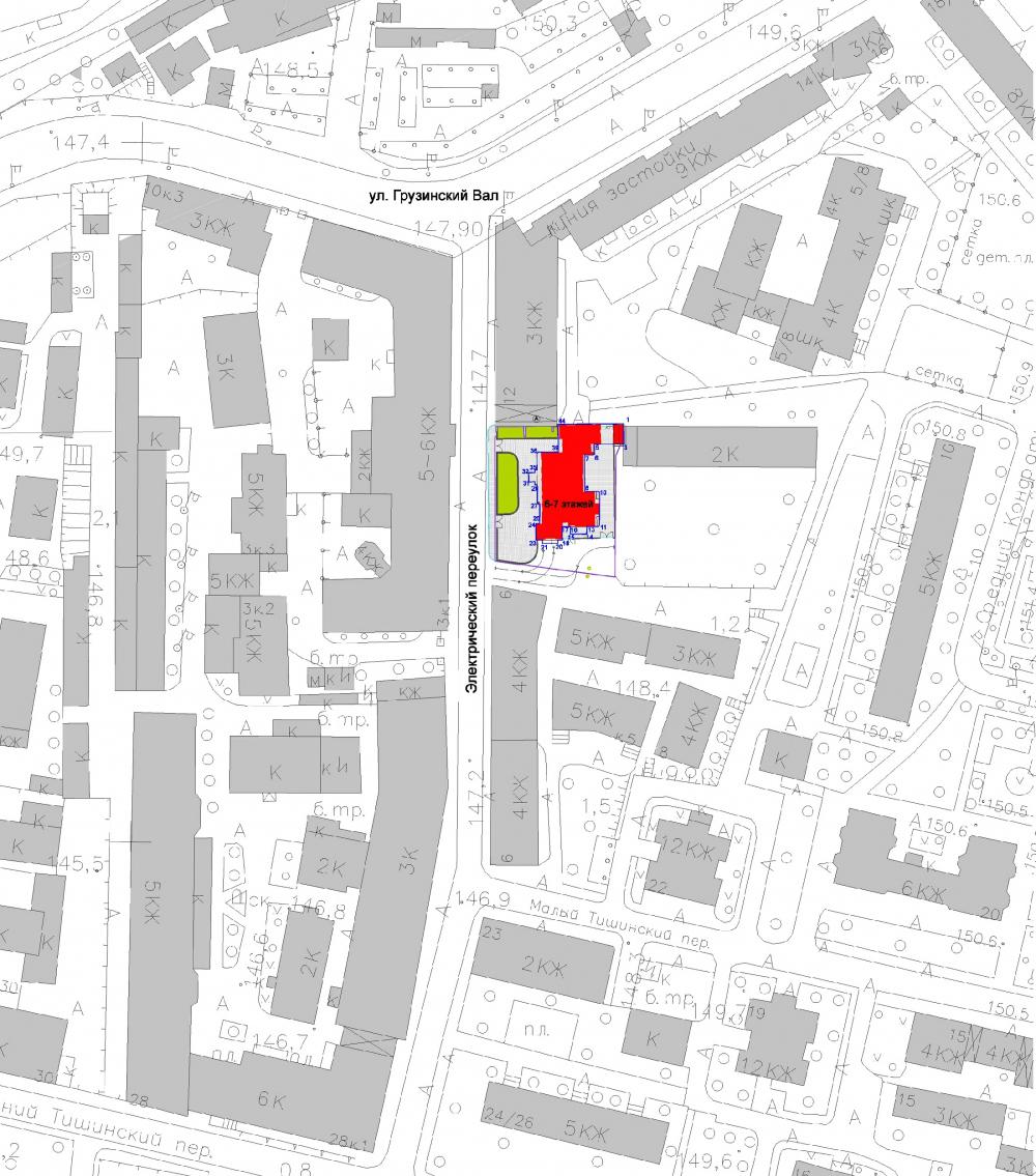 Edison House. Location plan<br>Copyright: © Aleksey Bavykin and Partners