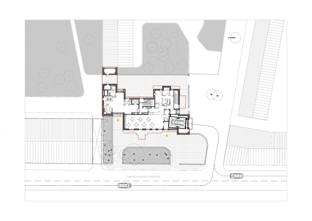 Edison House. Plan of the 1st floor<br>Copyright: © Aleksey Bavykin and Partners