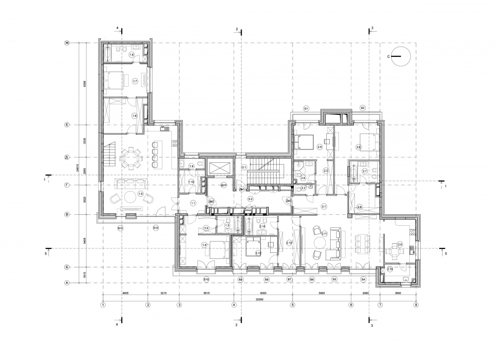 Edison House. Plan of the 5th floor<br>Copyright: © Aleksey Bavykin and Partners
