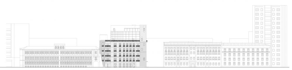 Edison House. Development drawing along the Elektrichesky Lane<br>Copyright: © Aleksey Bavykin and Partners
