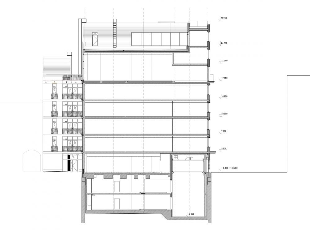 Edison House. Разрез 2-2 <br>© Алексей Бавыкин и партнёры