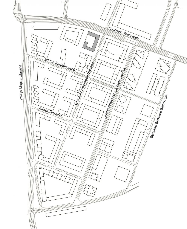 ZILART housing complex (Lot #4). Location plan<br>Copyright: © Mezonproekt