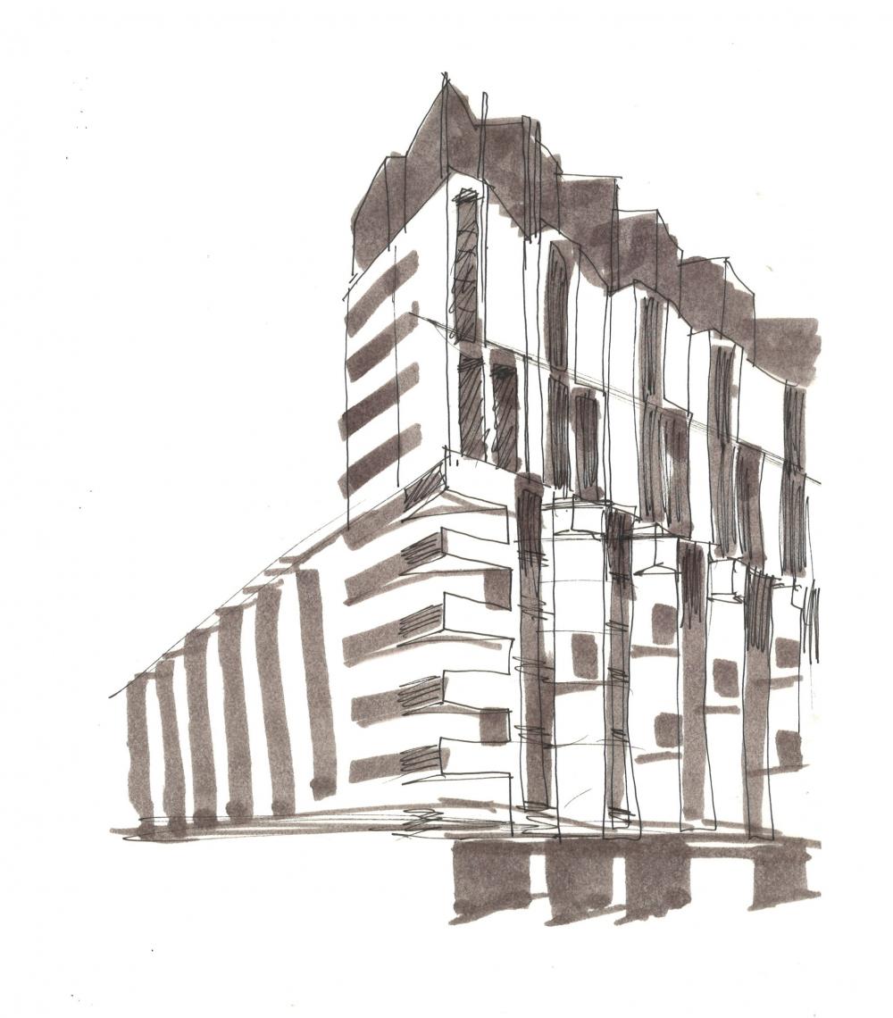 ZILART housing complex (Lot #4). Sketch 1<br>Copyright: © Mezonproekt