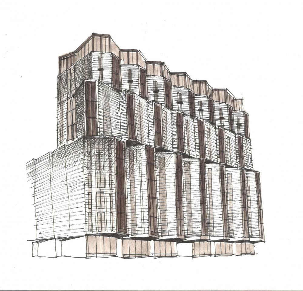 ZILART housing complex (Lot #4). Sketch 3<br>Copyright: © Mezonproekt