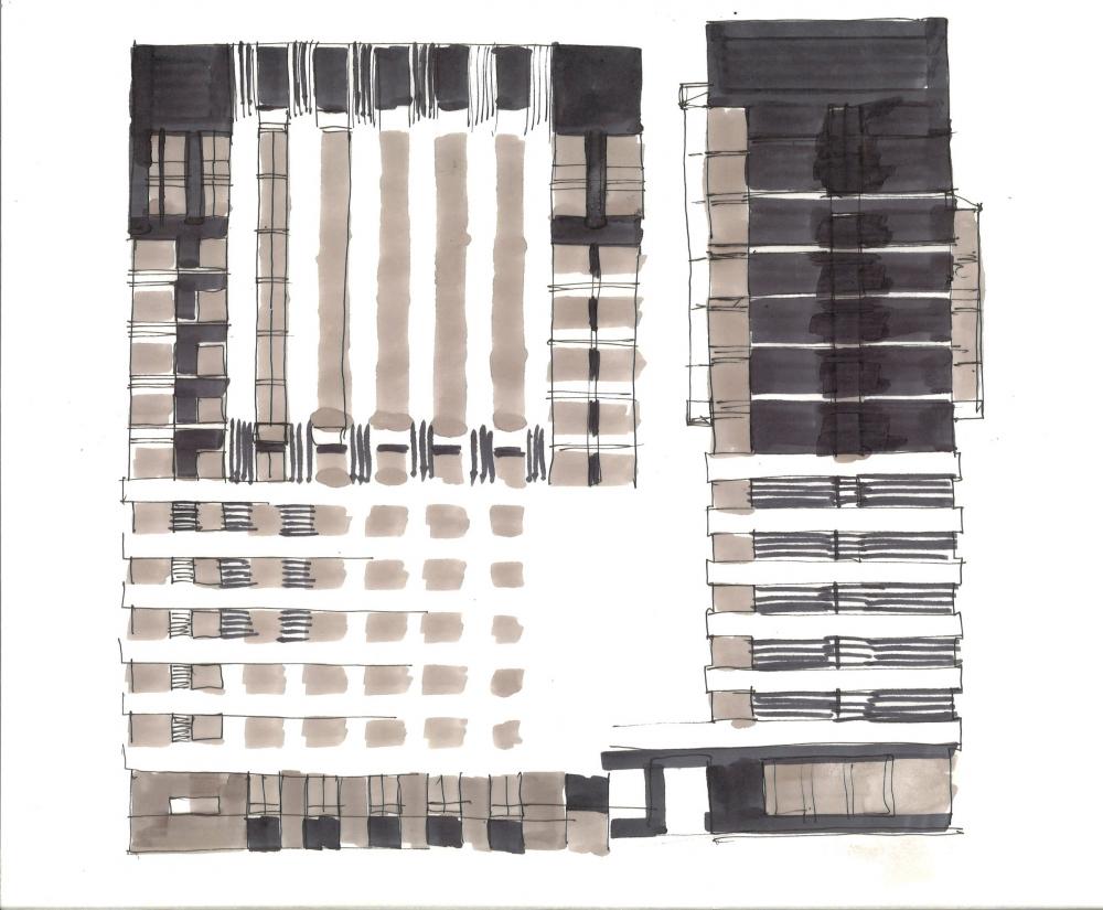 ZILART housing complex (Lot #4). Sketch 4<br>Copyright: © Mezonproekt