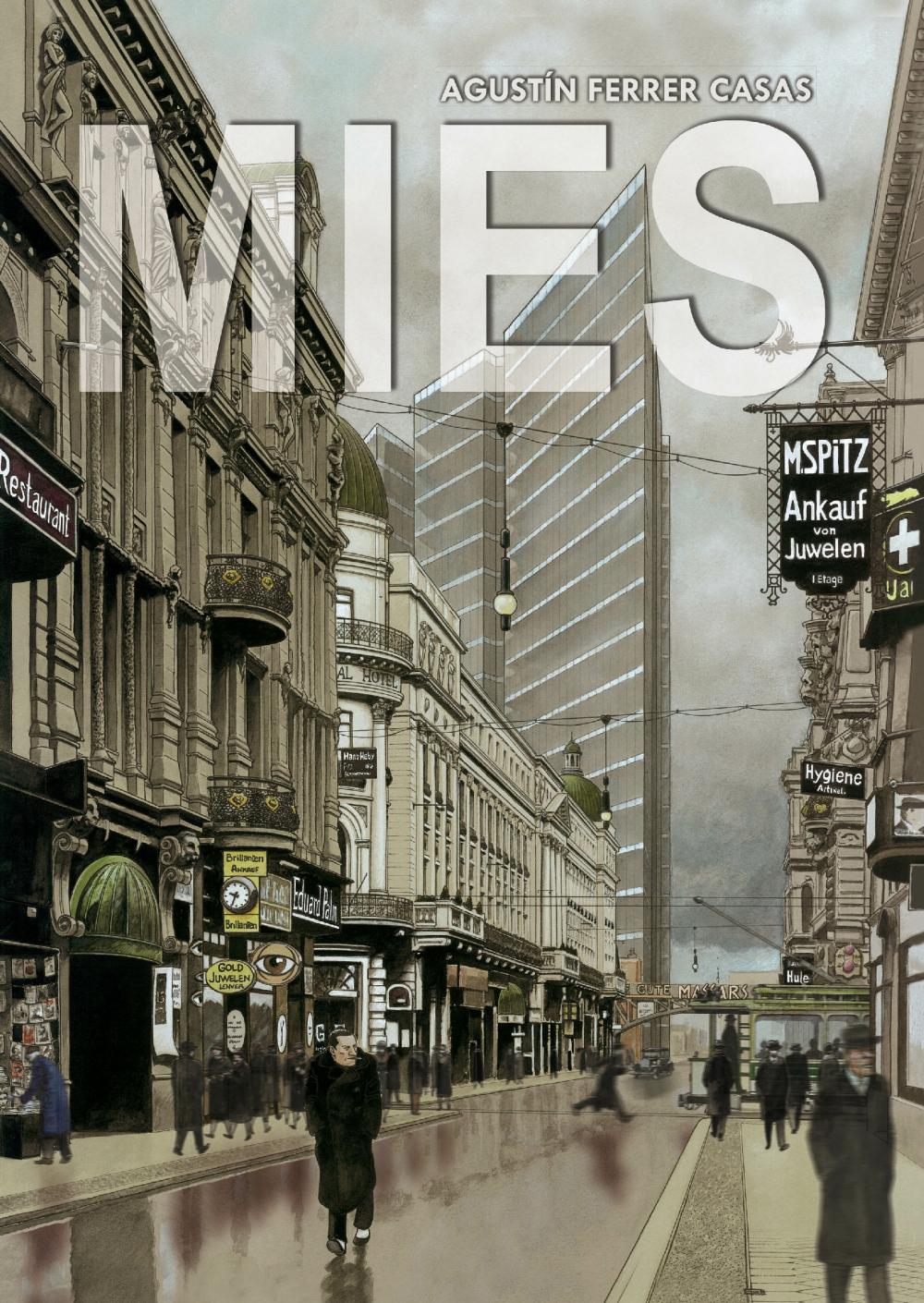 Обложка графического романа Mies, автор Агустин Феррер Касас<br>Изображение предоставлено издательством Grafito Editorial