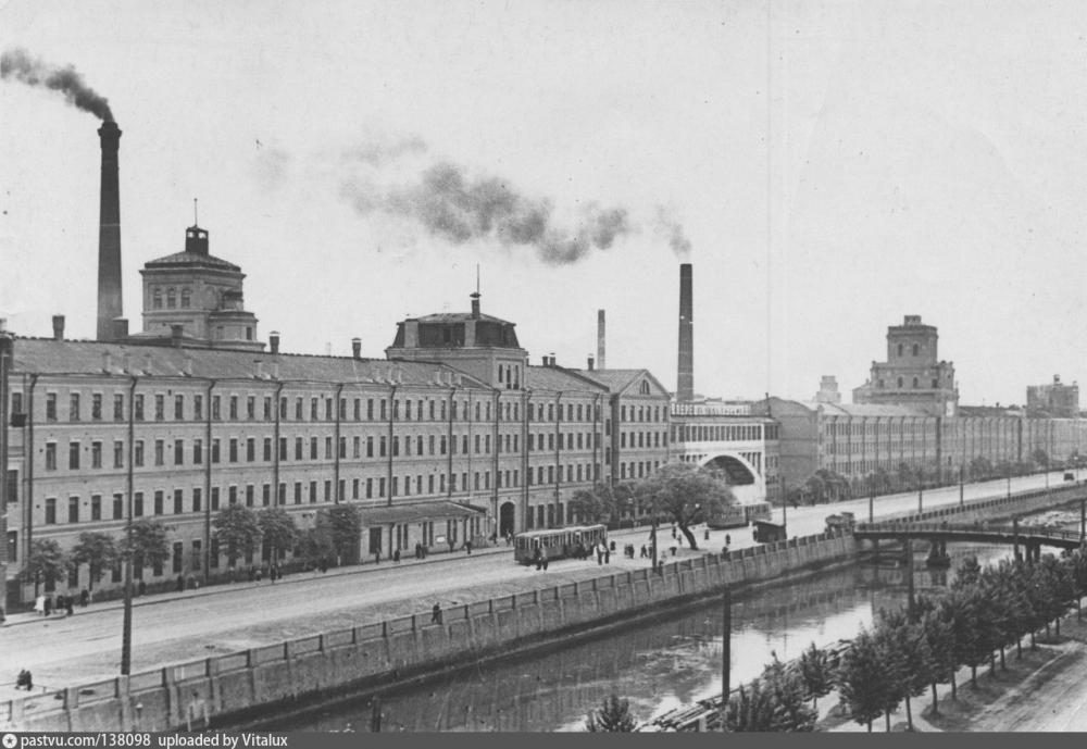 Завод «Красный треугольник», историческая фотография<br>Источник: pastvu.com
