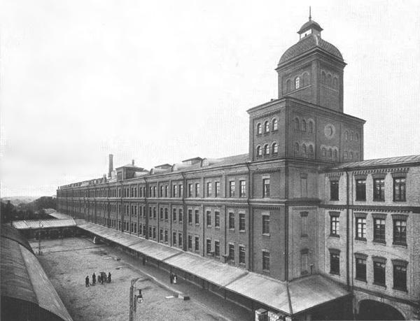 Завод «Красный треугольник», историческая фотография. Склады калош