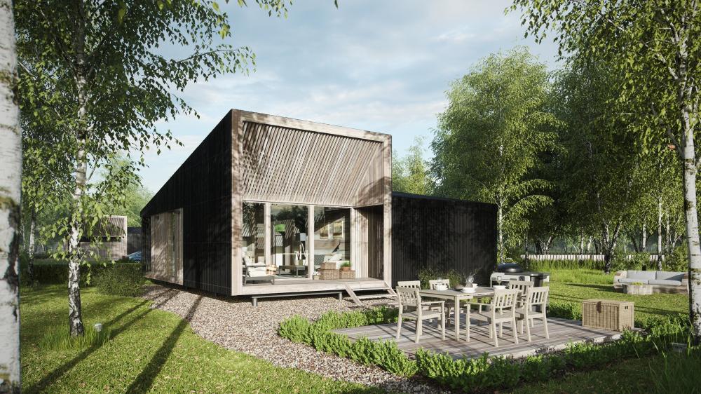 Концепция быстровозводимых домов для загородной жизни – SWIDOM<br>© MAParchitects