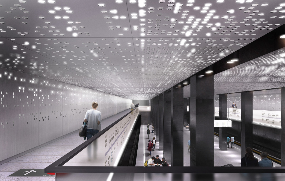 Design of the Stromynka metro station<br>Copyright: © MAParchitects