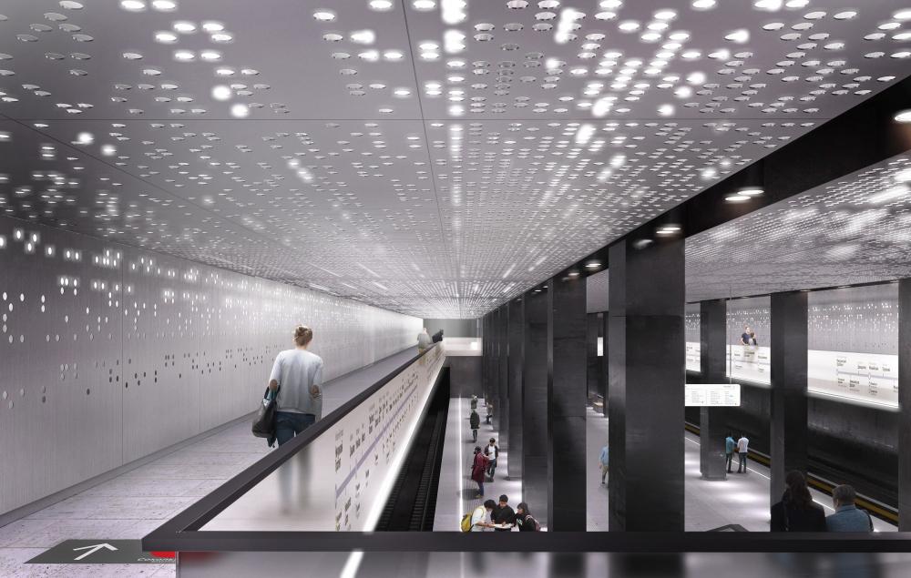 Дизайн станции метро Стромынка, Москва<br>© MAParchitects
