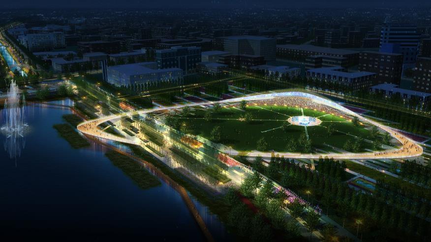 Концепция развития набережных системы озер Кабан, Казань<br>© Turenscape + MAParchitects
