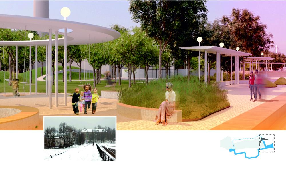 Вид на набережную<br>© «Новая земля»+ NEFA architects + ARTEZA