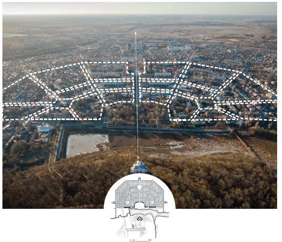 План А.Т. Болотова и современное состояние<br>© «Новая земля»+ NEFA architects + ARTEZA