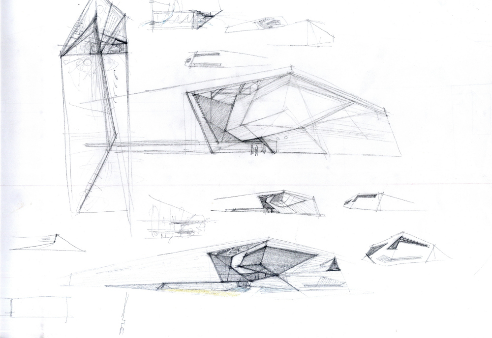 Distillery; the sketches, the shape search<br>Copyright: © TOTEMENT/PAPER