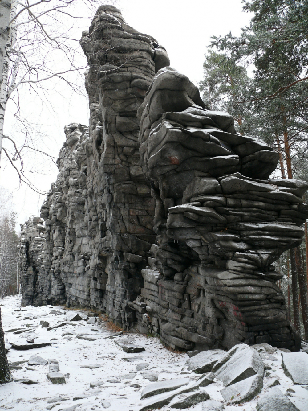 A rock formation in the vicinity of Ekaterinburg<br>Copyright: © A.Len