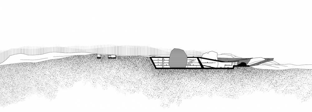 Vels Landscape Hotel. Section view A-A<br>Copyright: © Ad Hoc Architecture