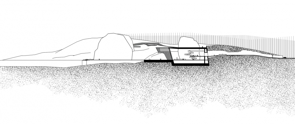 Vels Landscape Hotel. Section view B-B<br>Copyright: © Ad Hoc Architecture