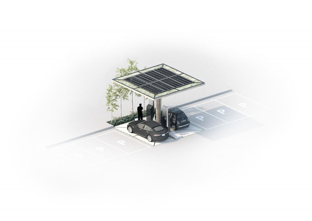 Станция зарядки электромобилей<br>© COBE