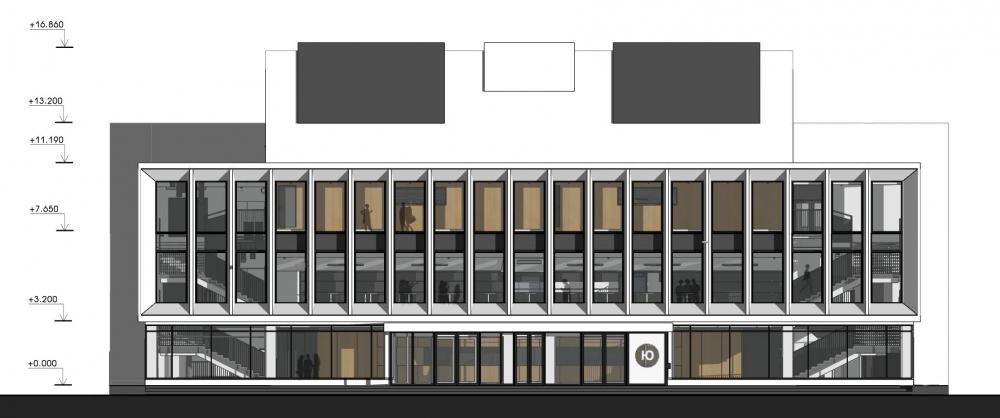 Концертный зал «Юпитер». Фасад<br>© Архитектурное бюро С. Горшунова