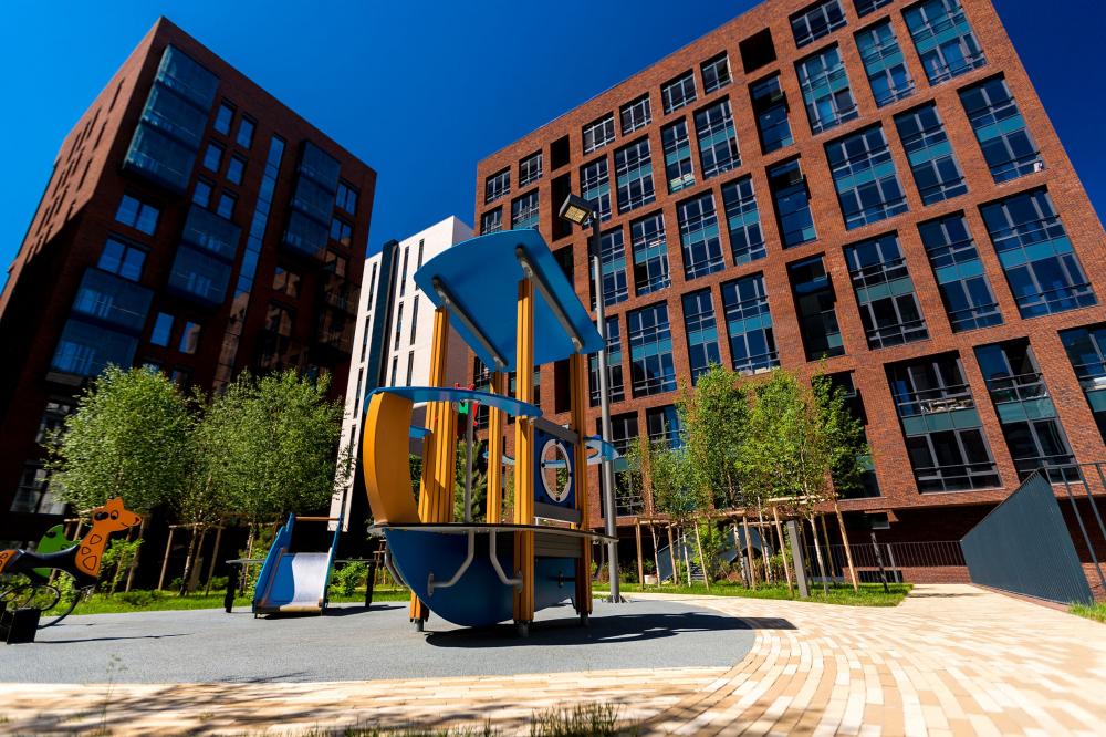 Жилой комплекс «Садовые кварталы»<br>Фотография © Sergey Skuratov Architects. Предоставлено компанией Hagemeister