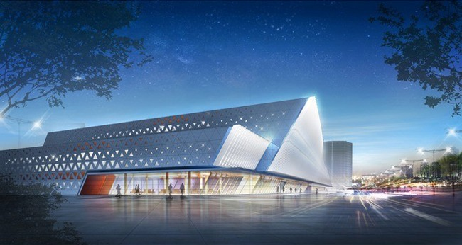 The competition project of an indoor sports complex. The 1st place<br>Copyright: © A-Len