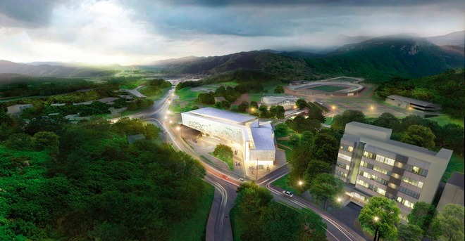 The project of a sports complex for the district of Dalseong-gun, Daegu, South Korea<br>Copyright: © A-Len